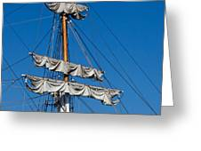 Tall Ship Rigging Greeting Card by Art Block Collections