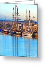 Tall Ships Greeting Card by Bill  Robinson