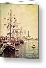 Tall Ships Greeting Card by Joel Witmeyer