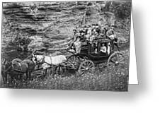 Tallyho Stagecoach Party C. 1889 Greeting Card by Daniel Hagerman