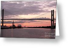 Talmadge Memorial Bridge Greeting Card by John Rizzuto