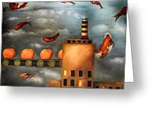 Tangerine Dream Edit 2 Greeting Card by Leah Saulnier The Painting Maniac