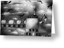 Tangerine Dream Edit 3 Greeting Card by Leah Saulnier The Painting Maniac