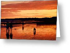 Tangerine Sands Greeting Card by Sharon Lisa Clarke