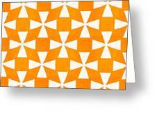 Tangerine Twirl Greeting Card by Linda Woods
