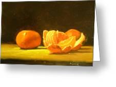 Tangerines Greeting Card by Ann Simons