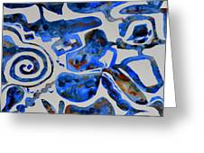 Tangled Up In Blue Greeting Card by Beverley Harper Tinsley