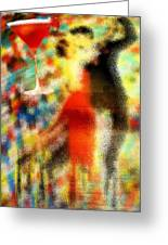 Tango As The Sunset Greeting Card by Pierre Louis