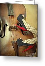 Tango For Strings Greeting Card by Evelina Kremsdorf
