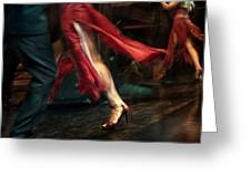 Tango Reflection Greeting Card by Michel Verhoef