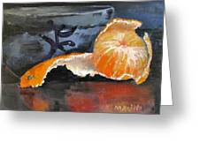 Tangy Tangerine Greeting Card by MaryAnne Ardito