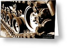Tank Tracks Greeting Card by Olivier Le Queinec