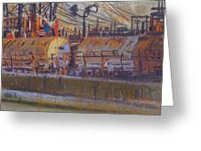 Tanker Fill Point Greeting Card by Donald Maier