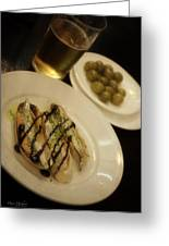 Tapas In Seville Greeting Card by Mary Machare