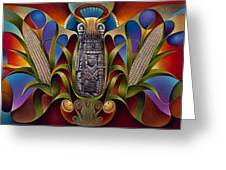 Tapestry Of Gods Greeting Card by Ricardo Chavez-Mendez