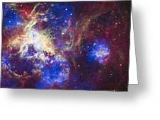 Tarantula Nebula Greeting Card by Adam Romanowicz
