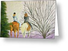 Tara's Ride Greeting Card by Tina A Stoffel