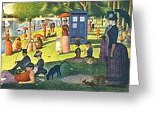 Tardis V Georges Seurat Greeting Card by GP Abrajano