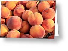 Tasty Peaches Greeting Card by Carol Groenen