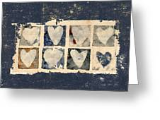 Tattered Hearts Greeting Card by Carol Leigh