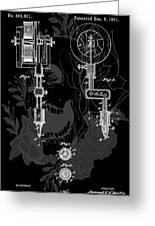 Tattoo Gun Patent Greeting Card by Dan Sproul