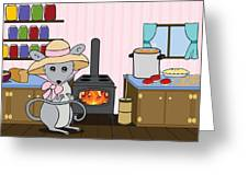 Tatty's Kitchen Greeting Card by Christy Beckwith