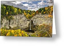 Taughannock Falls Autumn Greeting Card by Christina Rollo