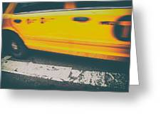 Taxi Taxi Greeting Card by Karol Livote