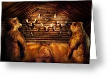 Taxidermy - Home Of The Three Bears Greeting Card by Mike Savad
