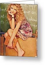 Taylor Swift Artwork Greeting Card by Sheraz A