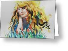 Taylor Swift Greeting Card by Chrisann Ellis