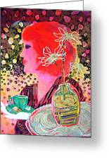 Teabag Greeting Card by Diane Fine