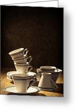 Teacups Greeting Card by Amanda And Christopher Elwell