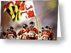 Team Maryland  Greeting Card by Scott Melby