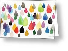 Tears Of An Artist Greeting Card by Linda Woods
