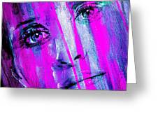 Tears - Purple Greeting Card by Richard Tito