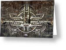Technically Electronic Background Greeting Card by Diuno Ashlee