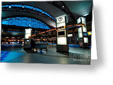 Technology Curves Pittsburgh International Airport Greeting Card by Amy Cicconi