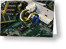 Technology - The Motherboard Greeting Card by Paul Ward