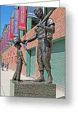 Ted Williams Statue Greeting Card by Barbara McDevitt