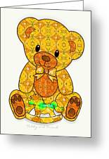 Teddy And Friend Greeting Card by Gayle Odsather