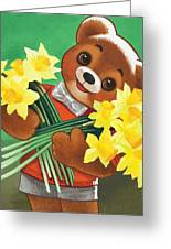 Teddy Bear Greeting Card by William Francis Phillipps
