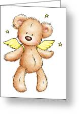 Teddy Bear With Wings Greeting Card by Anna Abramska