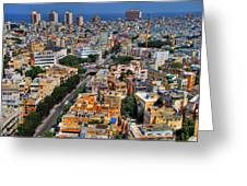 Tel Aviv Eagle Eye View Greeting Card by Ron Shoshani