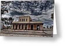 Tel Aviv First Railway Station Greeting Card by Ron Shoshani