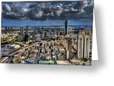 Tel Aviv Love Greeting Card by Ron Shoshani