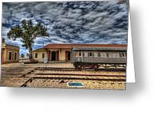 Tel Aviv Old Railway Station Greeting Card by Ron Shoshani