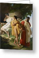 Telemachus And Eucharis Greeting Card by Raymond Quinsac Monvoisin