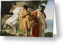 Telemachus And Eucharis Greeting Card by Raymond Quinsac Monvoisin