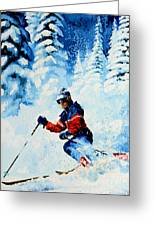 Telemark Trails Greeting Card by Hanne Lore Koehler